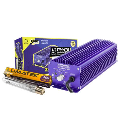 Balastro electrónico Ultimate Pro 600W 400V con bombilla LUMATEK